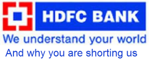 shorting hdfc bank swing trade